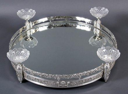 silverplatedware, crystal Baccarat, XX thC