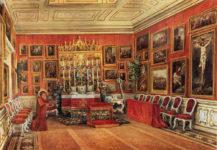 Kaplica Cernin w Wiedniu z częścią ich galerii zdjęć, 1864r.
