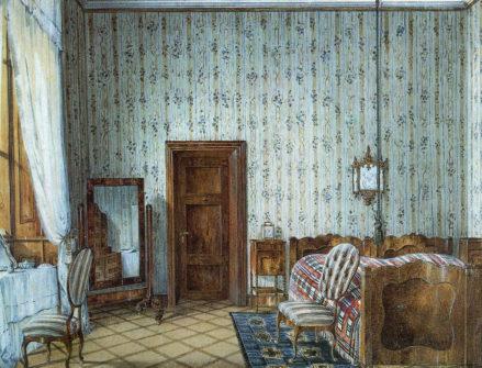 Sypialnia, około 1849r.