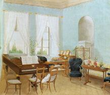 Sala Muzyczna przy pałacu w Vinoři w Pradze, 1841r.