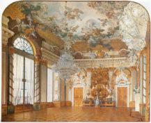 Rycerska Sala Tronowa Zamku w Berlinie, 1854r.