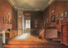 Sypialnia w pałacu Isenburg w Mannheim, 1861r.