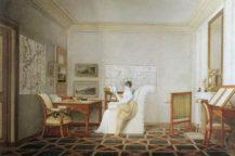 Księżniczka Anna Schwarzenberg, w biurze ambasady austriackiej w Paryżu, 1812 r.
