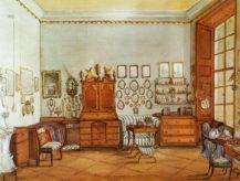 Pokój rodziny Sylva-Tarouccu na Zamku w Cechy pod Kosirem, około 1860-1870r.