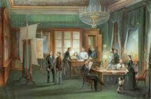 Pracownia księcia Karola II Schwarzenberg w Mediolanie, 1850r.
