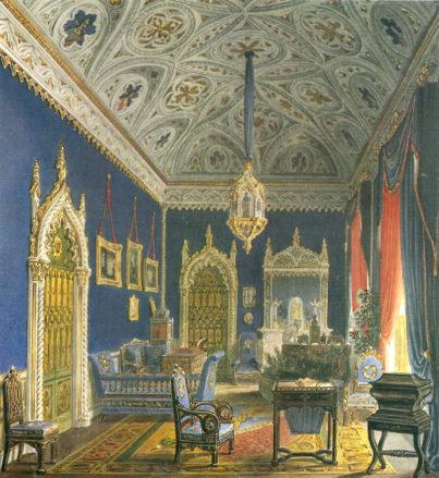 Salon Julie Pavlovny Samojlove w Mediolanie, prawdopodobnie 1831-1835.
