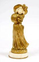 ivory, gilt bronze, marble,