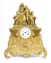Brąz złocony, cyzelowany. Francja, II poł. XIX w.