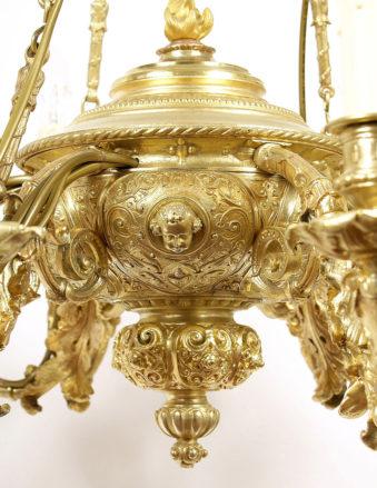 brąz złocony kon. XIX w.