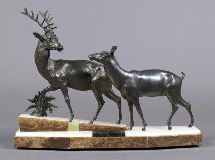 kompozycja metali, marmur, onyx, ok. 1930r