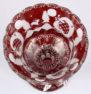 szkło rubinowe, szlifowane, ok. 1930r