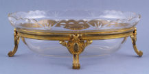 gilded bronze, crystal glass insert c. 1900