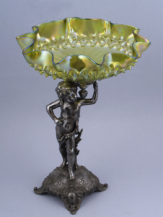 silvered tinn, iridescent glass beginning of the 20th century
