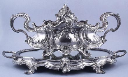 cyna srebrzona, Francja ok. 1900r.