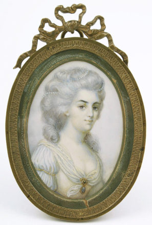 gouache on ivory, unsigned, late 19thC