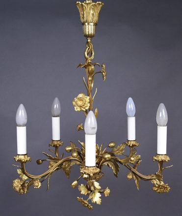brąz złocony, cyzelowany, kon. XIX w.