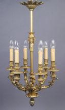 Brąz złocony, cyzelowany, poł. XIX w.