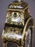 markieteria z szylkretu kareta kareta i blachy mosiężnej, brąz, mechanizm syg. S.MARTI & CIE., kon. XIX w.