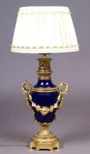 porcelana kobaltowa, brąz złocony, ok. 1900r.,