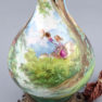 Hand-painted porcelain, bronze, early 20th century
